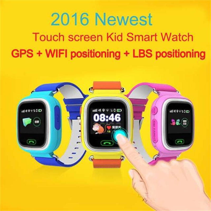 GPS Smart Watch Baby Watch Q90 With Wifi  Touch Screen SOS Call Locati