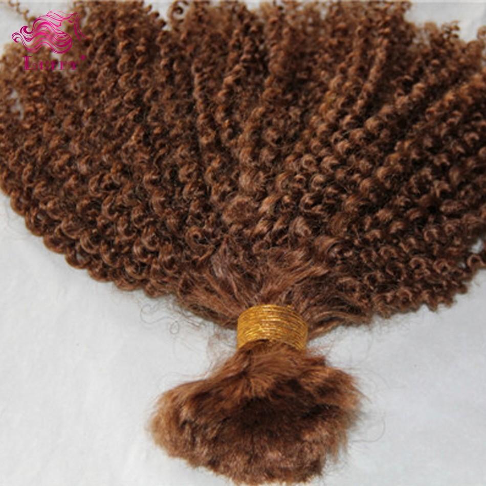 Wholesale Price 7A Brazilian Virgin Hair Afro Kinky Curly Hair Extensions #30 Virgin Bulk Hair For Braiding Brazilian Bulk Hair