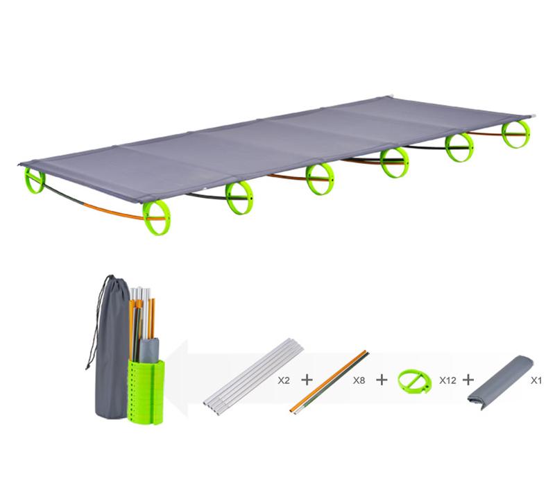 Фотография New BRS 1.3kg Ultralight Aluminium alloy Folding Bed Portable Bed Outdoor Travel Kits BRS-MC1