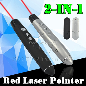 6pcs 2 in 1 USB Wireless  Laser Pointer Powerful Function Red Laser Pointer Teach Pen Remote Control