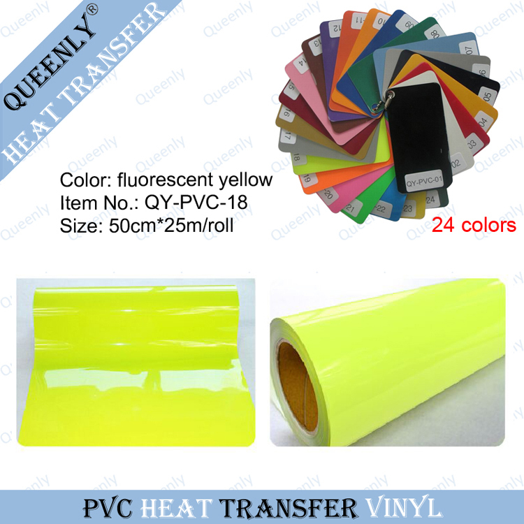 Flex Neon PVC Heat Transfer Vinyl for clothing heat transfer material 50cm*25m/roll(China (Mainland))