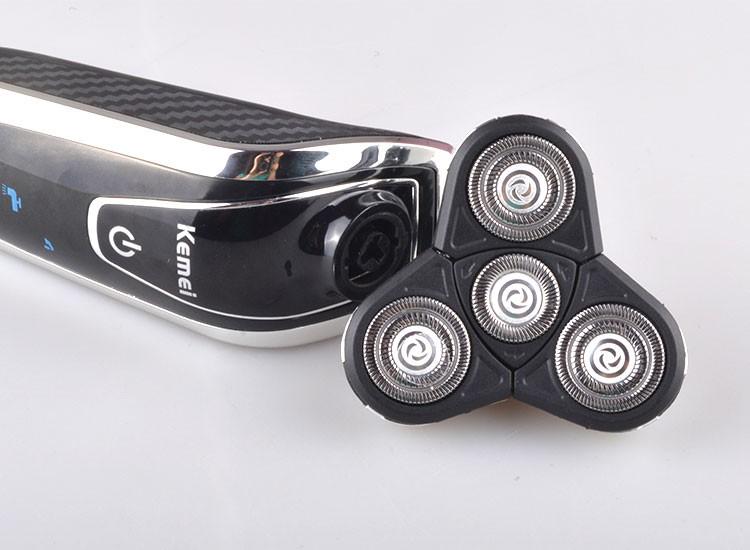 Купить Kemei5181 4 в 1 Моющиеся Аккумуляторные Бритвы Тройной Клинок Электрический Бритья Бритвы Уход За Кожей Лица 3D Плавающей Бесплатная Доставка