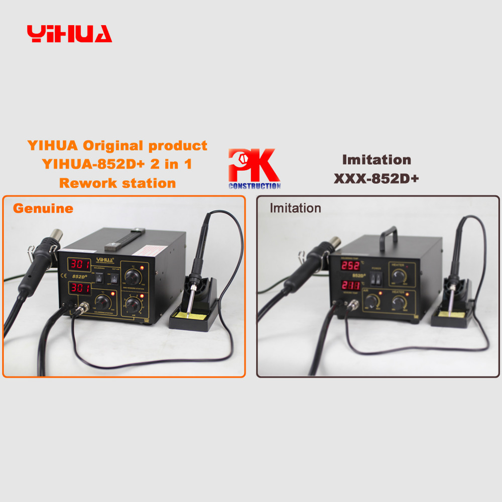 2 In 1 Soldering Station YIHUA 852D+ (Diaphragm Pump) Lead Free Air Soldering Station(China (Mainland))