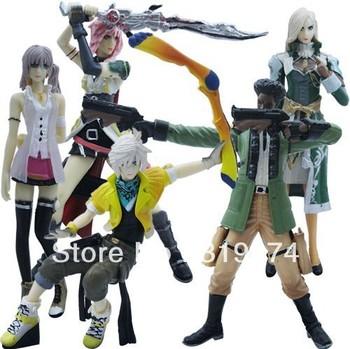"Wholesale/Retail Free Shipping FS 5pcs Set Final Fantasy XIII FF13 Figure 12cm/4.5"""