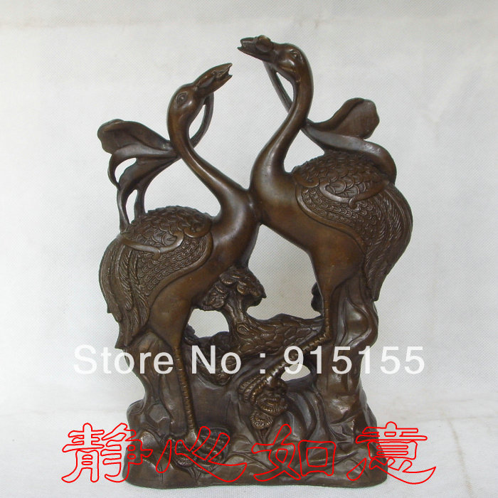 Copper wedding gifts fly wing to wing 25.5cm(China (Mainland))