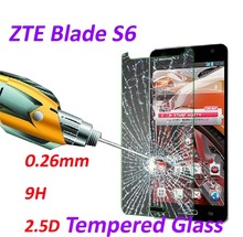 0.26mm 9H Tempered Glass screen protector phone cases 2.5D protective film For ZTE Blade S6 5.0inch