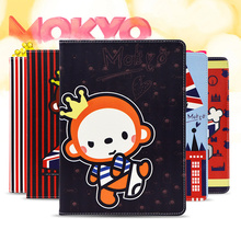 For Funda iPad Mini 4 Case Cute Crown monkey Cartoon Book Flip Stand PU Leather Tablet Cover Case for ipad Mini 4 with TPU Shell(China (Mainland))