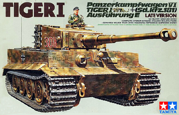 TAMIYA assembling tank model 35146 WWII German Tiger Tank late type