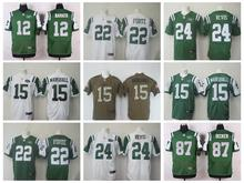 100% Stitiched,New York Jets,Brandon Marshall,Darrelle Revis,eric decker,Matt Forte(China (Mainland))