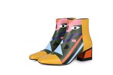 FEDONAS Mode Marke Frauen Knöchel Schnee Stiefel Warm High Heels Damen Schuhe Frau Partei Hochzeit Pumpt Grund Echtem Leder Stiefel(China)