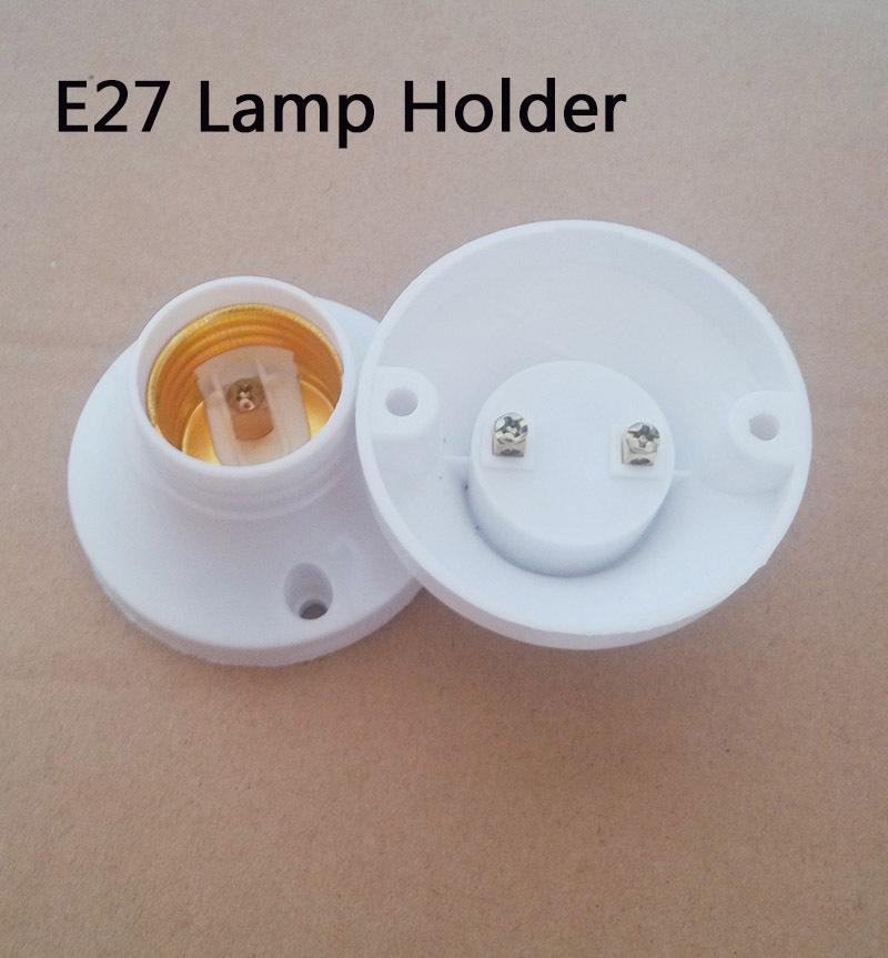 E27 Round Plastic Lamp Base Screw Light Bulb Lamp Socket Holder White E27 Light Holder Fitting E27 Accessories(China (Mainland))