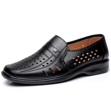 2016 Summer Men Shoes Soft Leather Punch Holes Men's Flats Slip On Men Loafer Shoe