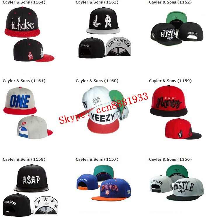 2015 New Arrival Cayler & Sons Floral Snapback Caps Black Flower Hip Hop baseball Hats Cheap Sun Hat Cap 150 Styles Freeshipping(China (Mainland))