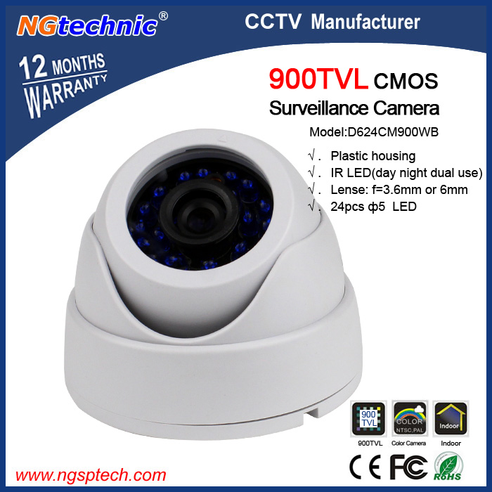 FREE SHIPPING!1/4 CMOS 900TVL security surveilance dome vandal-proof  IR indoor CCTV camera  color camera<br><br>Aliexpress