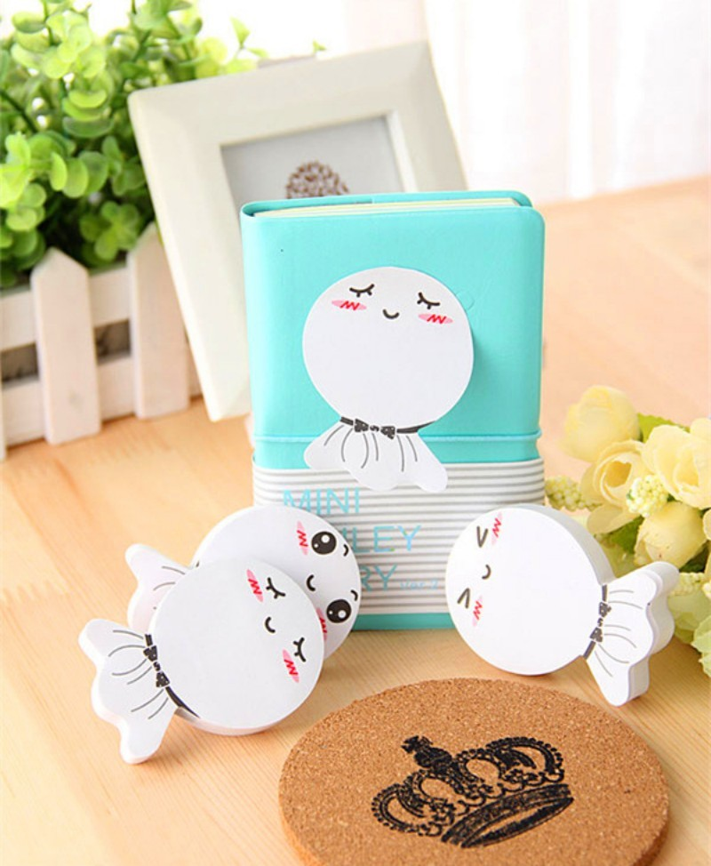 Smile Face Cute Memo Pads Lovely Sticky Notes Label Paper Sticker Decoration Stationery Office School Supplies
