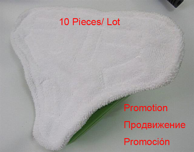 Cleaning Cloth For Floor H2O steam cleaner x5 Pads, 10 pcs per lot cleaning Cloth For Steam Mop Clean,microfiber cleaning cloth(China (Mainland))