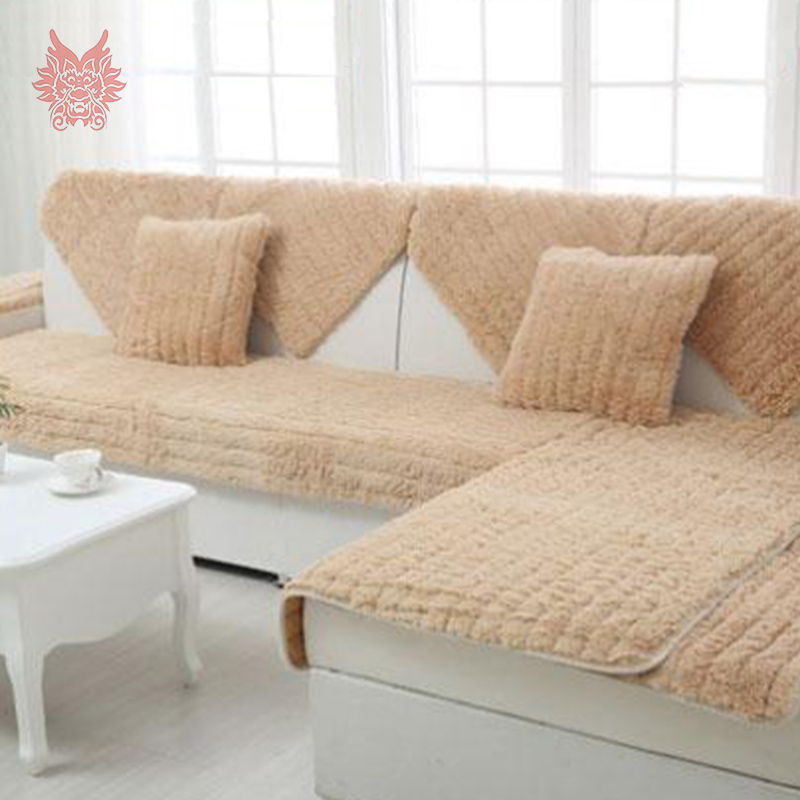 Modern style pink/camel/white/grey long fur Sofa cover plush slipcovers winter canape for top fashion sofa SP2316 FREE SHIP