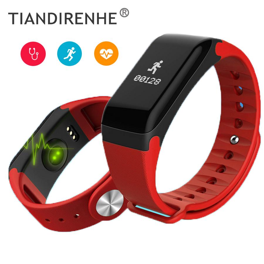 R3 Blood Pressure Heart Rate Monitor Smart Band Fitness Tracker Tristband OLED Touchpad Sleep Monitor pk xiaomi mi band 2 ID107