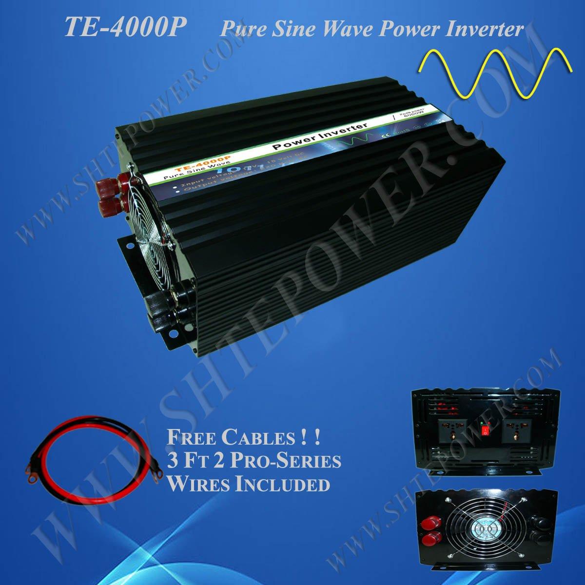 4000W DC48V to AC220V Pure Sine Wave Power Inverter Solar Power Inverter 4kw(China (Mainland))