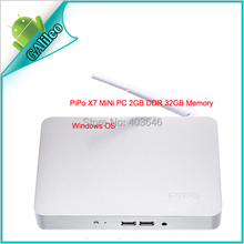 2015 Arrived PIPO X7 Mini PC Windows 8.1 2GB RAM 32GB ROM Intel CPU 4.0 HDMI Port Mini PC Office Bluetooth WIFI Russian Multi