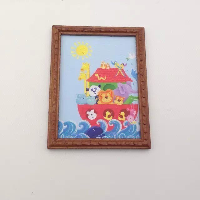 1 pc  Dollhouse 1:12 Scale Miniature Classical Oil Home Decorations Painting Frame  Miniature Dollhouse Framed Wall Painting