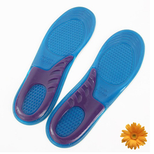 Hiking Feet Care Gel Insoles Inserts Men Athletic Shoes Cushion Women Football Sports Soles Shock Absorbing Silicone Gel Insoles