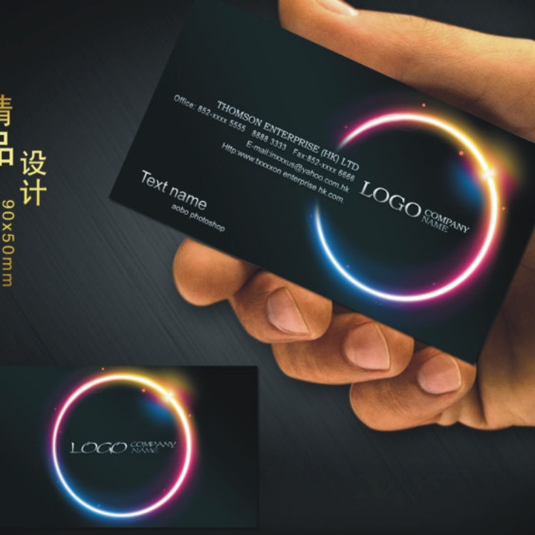 Online buy wholesale black glossy business cards from china black custom black business card printing free design and full color two sided printing personalized business cards reheart Choice Image