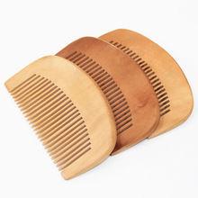 1x New women natural wood Cute comb Handmade healthy anti-static Sandalwood comb(China (Mainland))