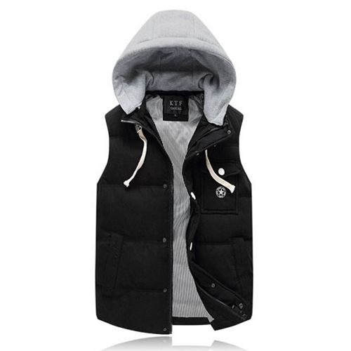 2015 New Outerwear Winter Jackets And Coats Mens Warm Cotton Padded Vest Sleeveless Jacket Waistcoat Colete Masculino 13M0115
