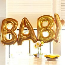 Buy 40 Inch Big Gold letters birthday party wedding ballons large helium air balloons foil balloons letters anniversaire alphabet for $3.39 in AliExpress store
