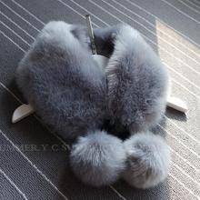 9 Colors 56CM*12CM Faux Fur Collar Solid Winter Scarf Female Handmade Rabbit Fur Scarf Women Winter Fur Wraps Ring Scarves(China (Mainland))