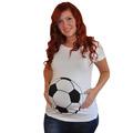Yejia Fashion Summer Pregnant Women T shirts Maternity Clothes Funny Football Print Pregnancy Long Tee Shirts