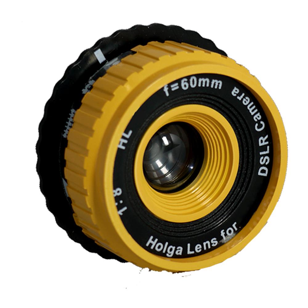 Lomo Holga DSLR Lens Yellow HL-C Canon Digital Camera EOS EF system 1D 5D 7D 60D 50D 40D 600D 550D 500D 1000D 1100D etc...
