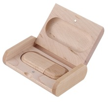 8GB Wooden drive Oval 2.0 USB flash drive memory Stick Wooden Package Free shipping Wholesale Brand New(China (Mainland))