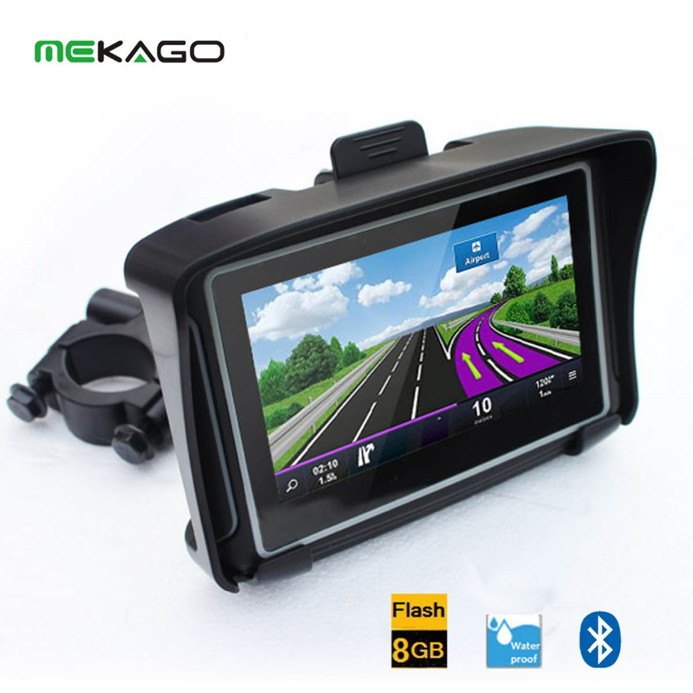 Free Shipping (Black) 4.3 inch HD 8GB Internal waterproof IPX7 Bluetooth GPS navigator motorcycle + Windows CE 6.0+ Maps(China (Mainland))