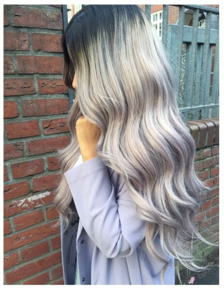 product Ombre Grey Bodywave Synthetic Lace Front Wig Glueless Two Tone Natural Black/Gray Heat Resistant Hair Wigs/FREE SHIPPING 2015New