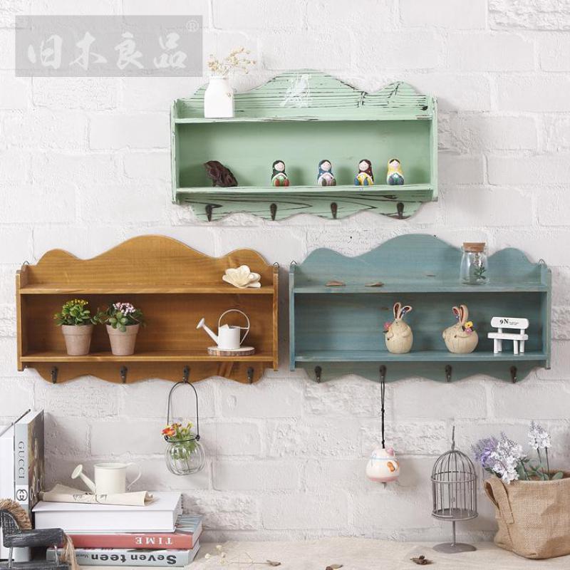 Home Storage Organization Makeup Organizer Wooden Box Organizer For Cosmetics Rangement Boxes Rack Storage wall hanging cabinet(China (Mainland))