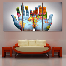 Painted Modern Abstract Oil Painting On Canvas The Hands Of The Map Wall Art For Living Room Decor Gift  Picture Canvas Painting(China (Mainland))