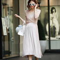 Popular Nursing Dresses for Pregnant Women Spring Summer Soft Comfy Maternity Long Dresses Slim Breastfeeding Clothing