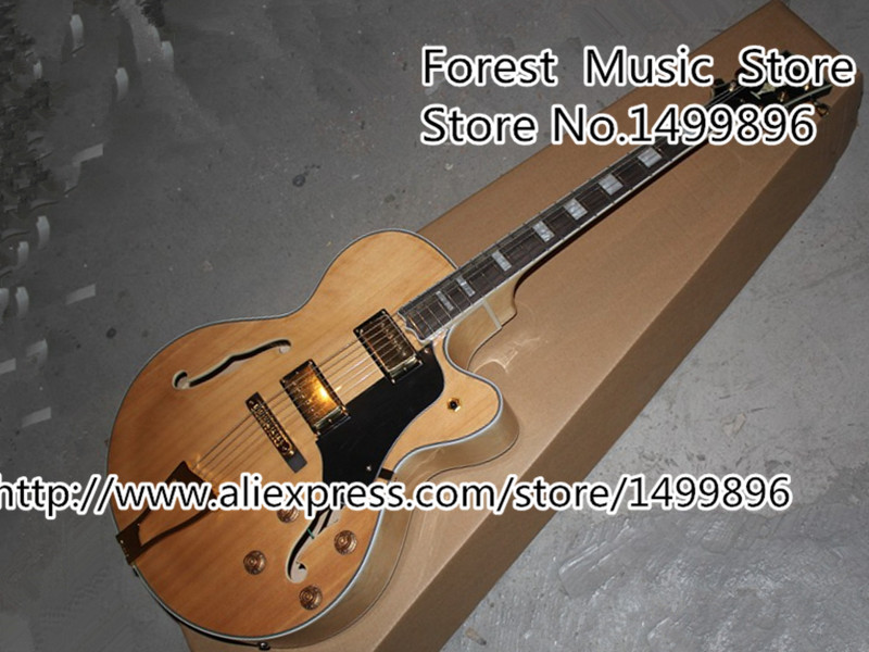 Здесь можно купить  Top Selling Natural Wood LP Custom Jazz Electric Guitar China OEM Hollow Body Guitar Left Handed Custom Available Free Shipping Top Selling Natural Wood LP Custom Jazz Electric Guitar China OEM Hollow Body Guitar Left Handed Custom Available Free Shipping Спорт и развлечения