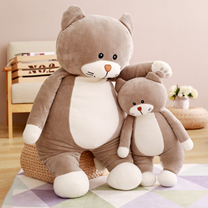 New Animals 60CM Plush Toys Kawaii Cat Big Size Stuffed Plush Animals Dolls Cute Toys For Children D214(China (Mainland))