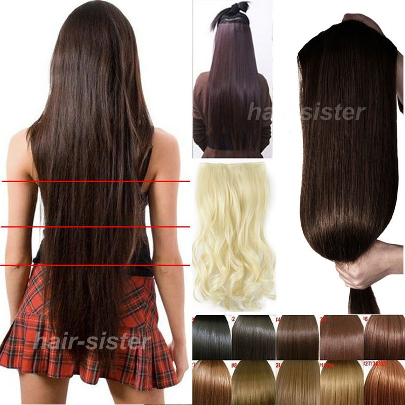 Maga Long hair 30 inches 76CM Clip in on Hair Extension 3/4 Full Head Straight Hair Extention 5Clips FALL TO WAIST(China (Mainland))
