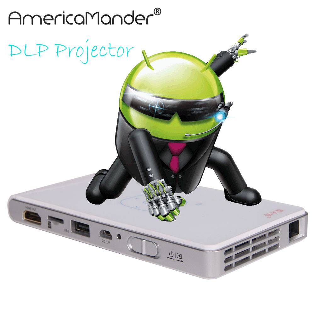 Mini led lcd 3d android 4 4 projector dlp wifi wireless for Mini wifi projector review