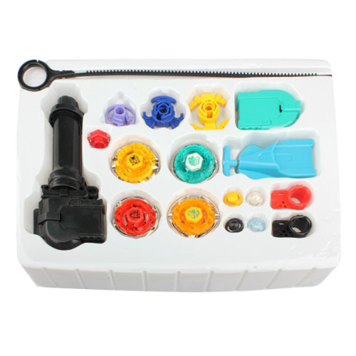 Beyblade Metal Fusion Super String Rip Cord Launcher Children Favor Toy Set,free shipping(China (Mainland))