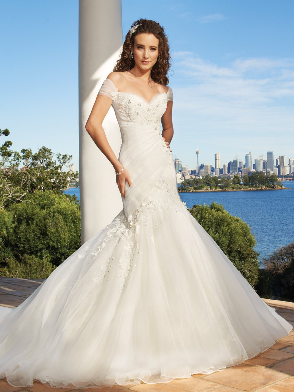 exclusively modern mermaid gown sweetheart neckline ruched On mermaid off shoulder wedding dress