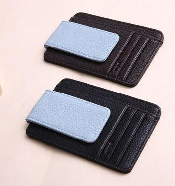 Fashion Men's Leather Wallet Card Bag Money Clip Dollars Wallet Credit/Id Card Holder Cool Thin Purse BAOK-fce5(China (Mainland))