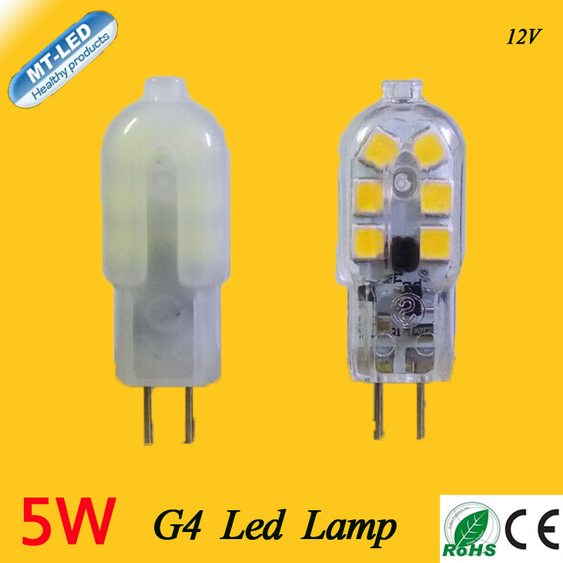 5W new G4 led DC 12V 12leds G4 lamp Led bulb SMD 2835 LED G4 light Replace 30/40W halogen lamp light free shipping(China (Mainland))