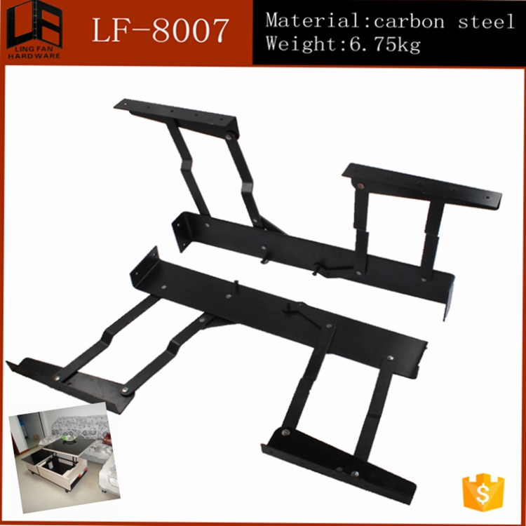 bedroom sets lift up coffee table mechanism with spring,height-adjustable standing desk folding frame(China (Mainland))