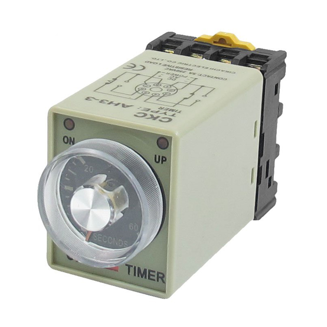 Best Sale AC 110V 0-60 Seconds 8P Screw Resistive Load Delay Timer Time Relay w Base<br><br>Aliexpress
