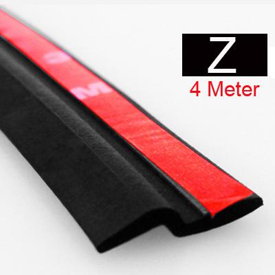 4Meter Z type 3M adhesive car rubber seal Sound Insulation , car door sealing strip weatherstrip edge trim noise insulation(China (Mainland))